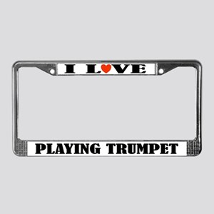 Trumpet Gift License Plate Frame
