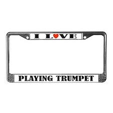 Trumpet Gift License Plate Frame