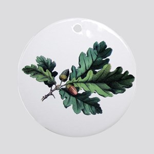 Acorns & Oak Leaves Ornament (Round)