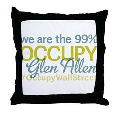 Occupy Glen Allen Throw Pillow
