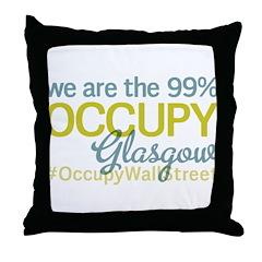 Occupy Glasgow Throw Pillow