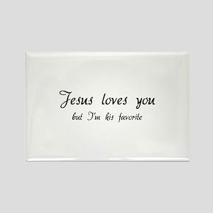 Jesus loves you ... Rectangle Magnet
