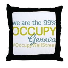 Occupy Genova Throw Pillow