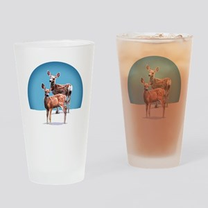 King's Fawns Drinking Glass