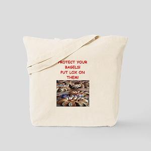 bagels and lox joke Tote Bag
