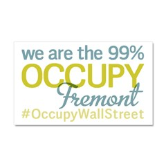 Occupy Fremont Car Magnet 20 x 12