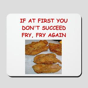fried chicken joke Mousepad