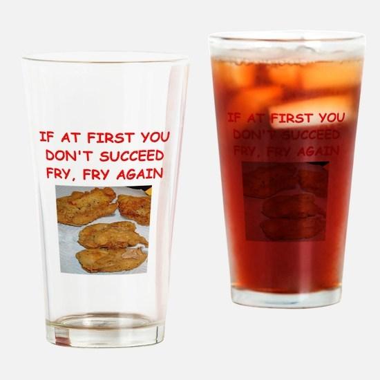 fried chicken joke Drinking Glass