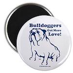 Bulldogger Get More Love Magnet