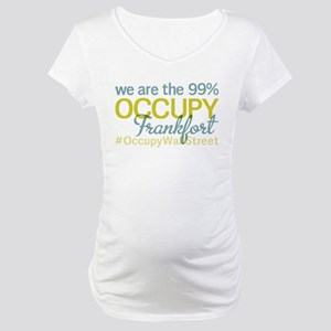 Occupy Frankfort Maternity T-Shirt