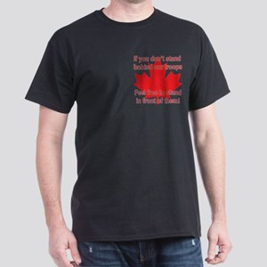 Support Canadian Troops Dark T-Shirt