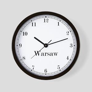 Warsaw Classic Newsroom Wall Clock