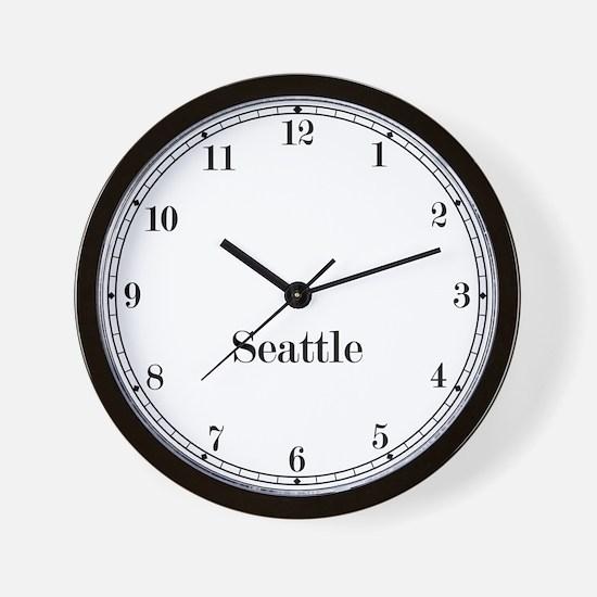 Seattle Classic Newsroom Wall Clock