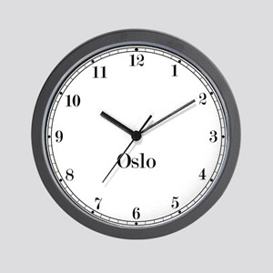 Oslo Station Classic Newsroom Wall Clock