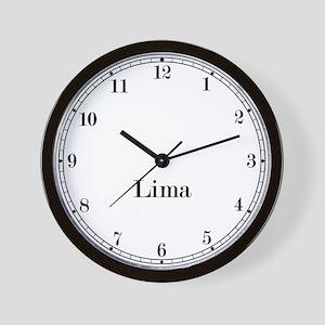 Lima Classic Newsroom Wall Clock