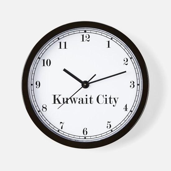 Kuwait City Classic Newsroom Wall Clock