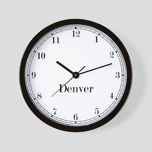 Denver Classic Newsroom Wall Clock