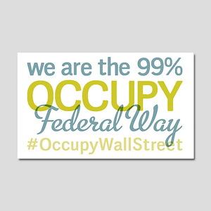 Occupy Federal Way Car Magnet 20 x 12