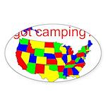 got camping? Sticker (Oval 10 pk)