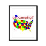 got camping? Framed Panel Print