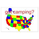 got camping? Large Poster