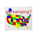 got camping? Throw Blanket