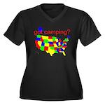 got camping? Women's Plus Size V-Neck Dark T-Shirt