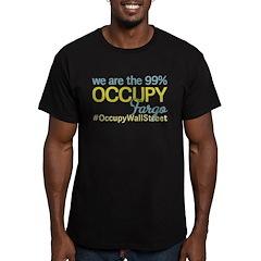 Occupy Fargo Men's Fitted T-Shirt (dark)