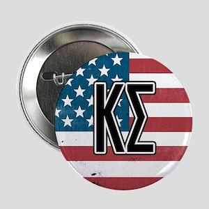 """Kappa Sigma Flag 2.25"""" Button"""