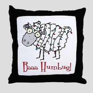 Holiday Humbug Throw Pillow