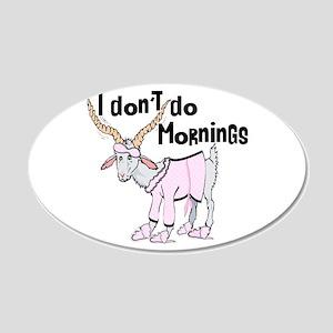 Morning Goat 22x14 Oval Wall Peel