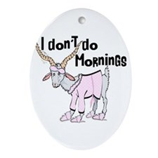 Morning Goat Ornament (Oval)