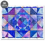 Blue Quilt Watercolor Puzzle