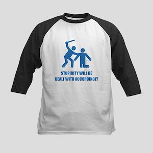 Stupidity Kids Baseball Jersey