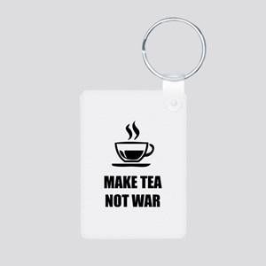 Make tea not war Aluminum Photo Keychain