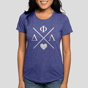 Delta Phi Lambda Cross L Womens Tri-blend T-Shirts