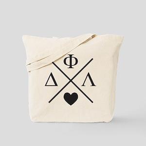 Delta Phi Lambda Cross Letters Tote Bag