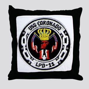 USS Coronado LPD 11 Throw Pillow