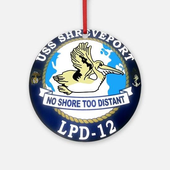 USS Shreveport LPD 12 Ornament (Round)
