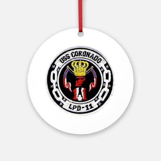 USS Coronado LPD 11 Ornament (Round)