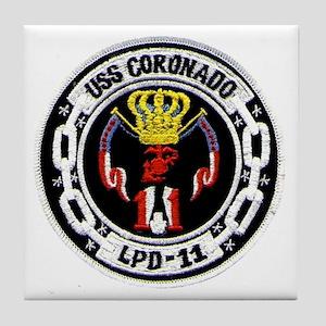 USS Coronado LPD 11 Tile Coaster