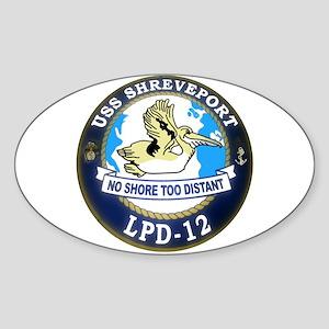 USS Shreveport LPD 12 Oval Sticker