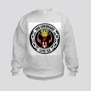 USS Coronado LPD 11 Kids Sweatshirt