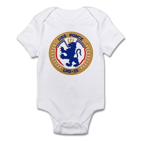 USS Ponce LPD 15 Infant Bodysuit