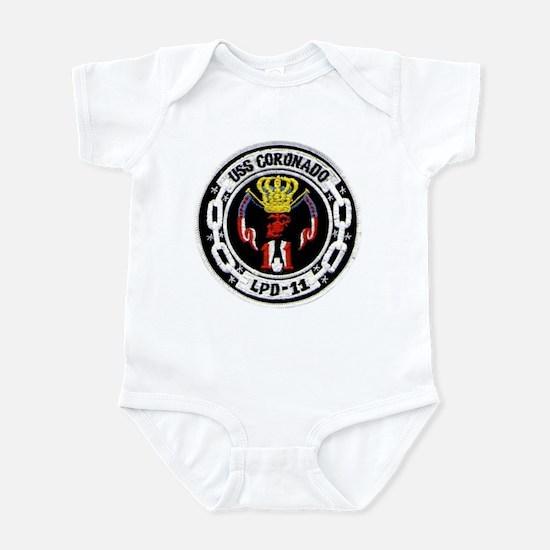 USS Coronado LPD 11 Infant Creeper