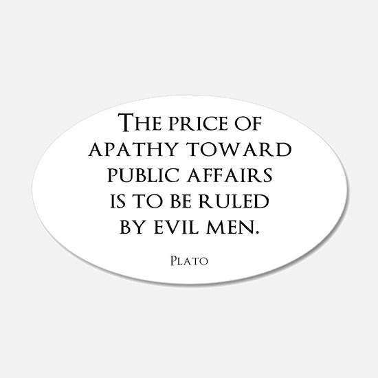 Politics 22x14 Oval Wall Peel