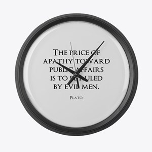 Politics Large Wall Clock