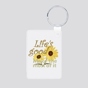 Life''s Good Aluminum Photo Keychain