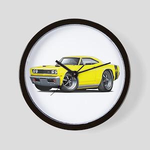 1969 Super Bee Yellow Car Wall Clock