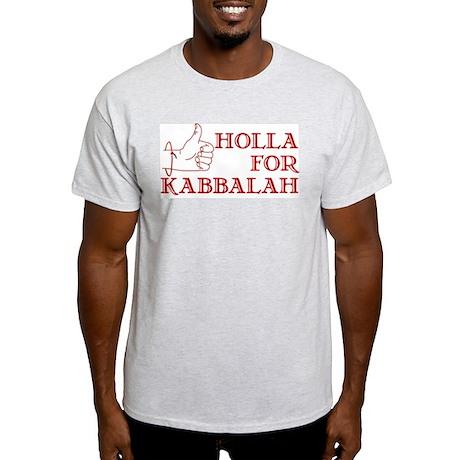 Holla For Kabbalah Ash Grey T-Shirt